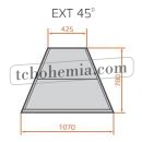 LCC Carina 03 EXT45 - Venkovní rohová vitrína 45°