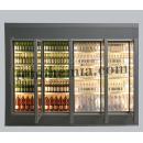 Chladicí komora s prosklenými dveřmi