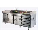 GNTC700 L2 D7 - Chlazený pracovní stůl s 2 dveřmi a 7 zásuvkami