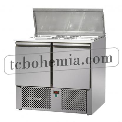 SL02EKO - Salátový stůl s 2 dveřmi GN 1/1