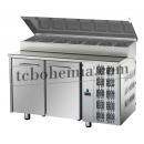 TF02EKOGNSK - Stůl na přípravu pizzy (7xGN1/3)