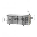 TF03MIDGNL - Třídveřový pracovní stůl GN 1/1 s dřezem
