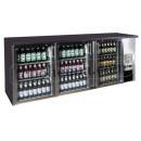 TC-BB-3GDI INOX - Barová chladnička se trěmi skleněnými dveřmi