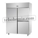 A314EKOMTN - Nerezová třídveřová lednice GN 2/1