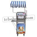 Arteis XL-R 2.0 KW - Stroj na točenou zmrzlinu s pultem a slunečníkem