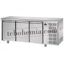 TF03EKOGN | Chlazený pracovní stůl s jedněmi dveřmi GN 1/1 a 4x GN 1/2 zásuvkami