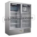 CC 1600 GD (SCH 1400 S) INOX | Lednice s dvojitými prosklenými dveřmi