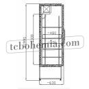SCH 400 INOX - Lednice s plnými dveřmi