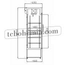 SCH 402 INOX - Nerezová lednice s prosklenými dveřmi