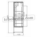 SCH 601 INOX - Nerezová lednice s prosklenými dveřmi