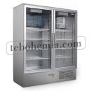 CC 1200 GD (SCH 800 S) INOX | Nerezová lednice s dvojitými prosklenými dveřmi