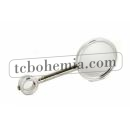 Round medal chrome plated long version