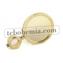 Round medal PVD plated