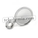 Round medal chrome plated